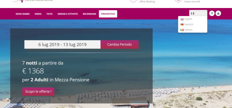 Booking Engine (su misura) integrato